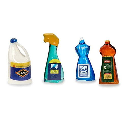 Dollhouse Miniature Set of Household Cleaning Products (Dollhouse Supplies compare prices)