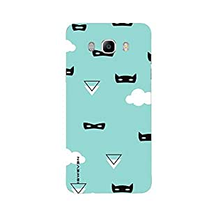 iSweven printed samj7_3253 cartoon on blue Background Design Multicolored Matte finish Back case cover for Samsung Galaxy J7 (2016 Edition)