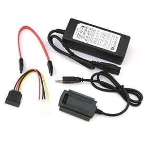 adaptare USB IDE SATA S-ATA Serial ATA HDD Adapter Konverter für 2,5 + 3,5 Zo...