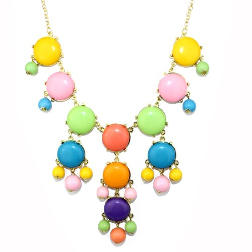 Hot New Women Bubble Bib Statement Necklace Fashion Chain Colorful.2