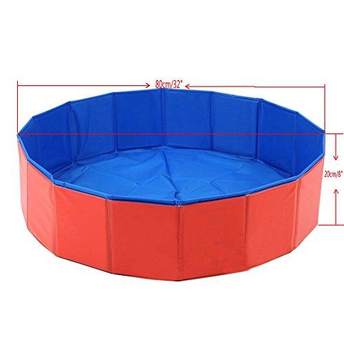 Lalawow 80cm pieghevole piscina cani vasca da bagno per cani animale domestico - Vasca da bagno piscina ...