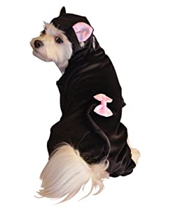 Anit Accessories Black Cat Dog Costume, 12-Inch