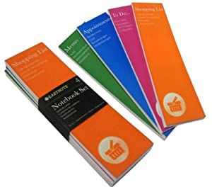 4 Notebook Set: TO DO LIST - APPOINTMENTS - SHOPPING LIST - MEMO
