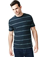 North Coast Pure Cotton Aztec Striped T-Shirt