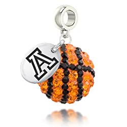 Arizona Wildcats Basketball Drop Charm