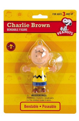 Peanuts - Charlie Brown Bendable Figure with Suction Cup - 1