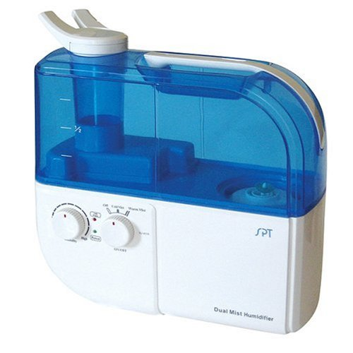 SPT SU-4010 Ultrasonic Dual-Mist Warm/Cool Humidifier with Ion Exchange Filter - Blue - 1