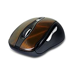Amkette Dynamo 7D Multi-functional Wireless Optical Gaming Mouse (Orange-Black)