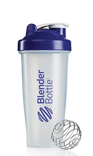 BlenderBottle Classic Shaker Bottle, Clear/Purple, 28-Ounce
