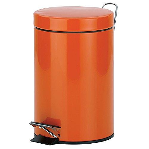 kela-sina-cosmetic-bin-metal-orange-3-litre
