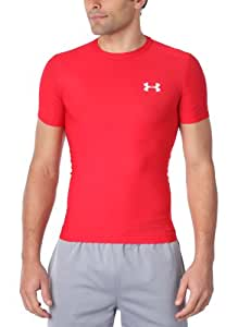 Under Armour Herren HeatGear Vollständige Compression Tee Base Layer Rot XXX-L