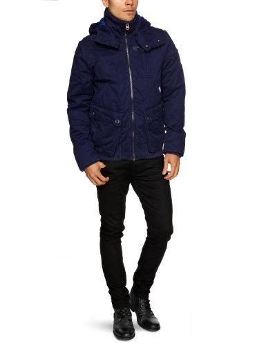 G Star Ontario Hooded Bomber Men's Jacket Brittany Blue Medium
