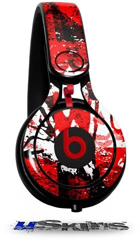 Red Graffiti Decal Style Skin (Fits Genuine Beats Mixr Headphones - Headphones Not Included)