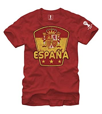 FIFA 2014 World Cup Soccer - Espana Spain - T-Shirt (Medium)