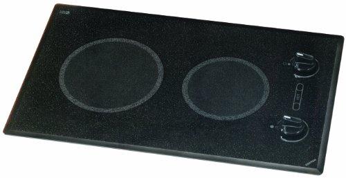 Kenyon B41591 6-1/2 And 8-Inch Mediterranean 2-Burner Cooktop With Analog Control Ul, 208-Volt, Black
