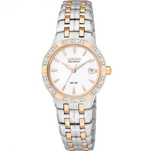 Citizen Ladies Eco-Drive Silhouette Diamond Watch Ew0966-58A