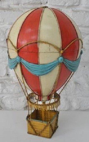 Hot Air Balloon Balloon Tin Tin Model Vintage Balloon Approx. 21x 35cm 37424