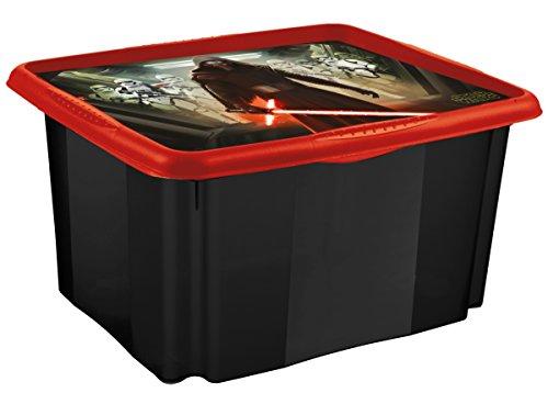 OKT Star Wars Scatola con Coperchio, Plastica, Nero, 45 litri, 54 x 39 x 29.5 cm