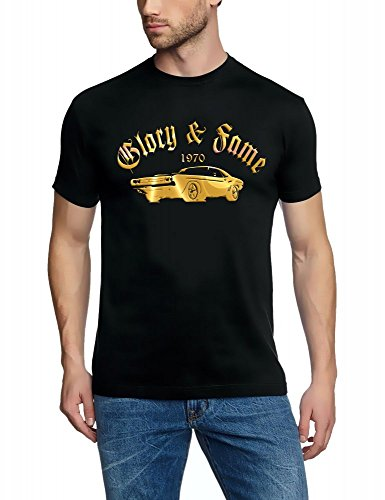 Dodge Charger Challa Challenger 1970Glory & Fame T-Shirt colori assortiti S M L XL XXL 3X L 4X L 5X L, Nero/Oro, X-Large