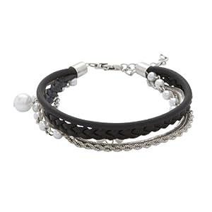 fossil damen armband leder seidenband perlen 18 4 cm jf86962040 schmuck. Black Bedroom Furniture Sets. Home Design Ideas