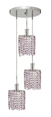 "Wiatt 3-Light 9""D Crystal Ceiling Pendant 1091D-R-E-Ro-Rc"