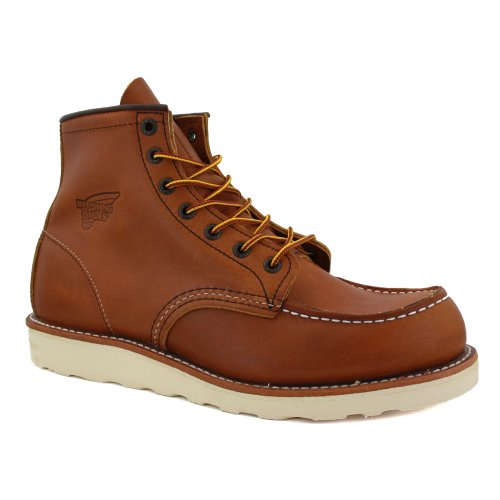 Red Wing 6-Inch Boot 00875-3 Mens Laced Leather Boots Tan - 9