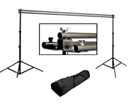 Cowboystudio Triple Background Support System, Designed to Support Muslin, Canvas, Vynal,  and Paper