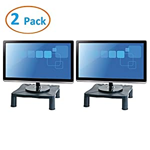 Halter Height Adjustable Monitor Stand - Printer Stand - Desk Shelf - Monitor Riser For Screens Up To 24