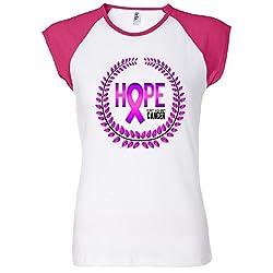 Great Seal Of Hope Breast Cancer Ribbon Women's Raglan T-Shirt