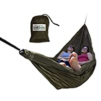Trek Light Gear Double Hammock with Rope Kit - The Original Brand of Best-Selling Lightweight Nylon Hammocks - Use for All Camping, Hiking, and Outdoor Adventures