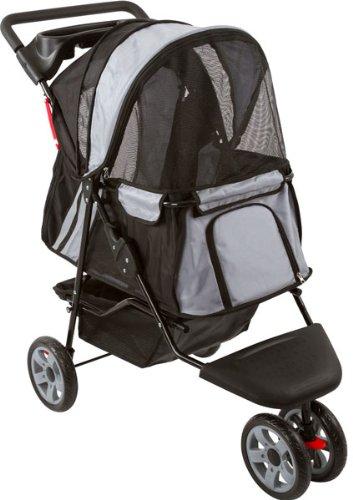 Black And Silver Zephyr 3-Wheel Pet Jogging Stroller front-731957