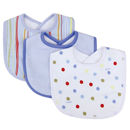 Trend Lab Dr Seuss 3 Piece Bibs, One Fish Two Fish