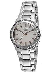 GUESS Analog White Dial Womens Watch - W11178L1