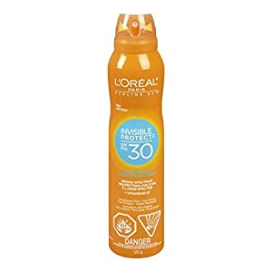 L'Oreal Alcohol-Free Sunscreen Spray Suntan Lotion Loreal, Water Resistant
