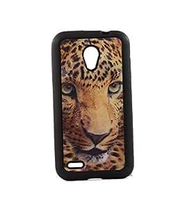 Exclusive 3D Design Effect Rubberised Back Case Cover ForIntex Aqua 3G+ PLUS - Leopard