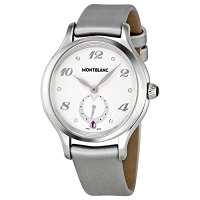 Mont Blanc Princess Grace of Monaco White Dial Leather Ladies Watch MB107335