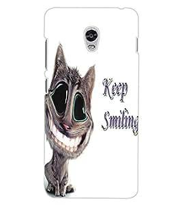 ColourCraft Funny Cat Design Back Case Cover for LENOVO VIBE P1