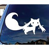 "Kyubey Magical Girl Madoka Car Window Vinyl Decal Sticker 5"" Wide"