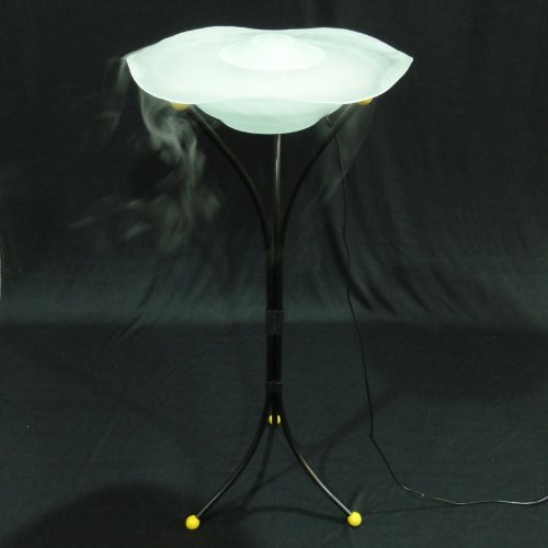 Mist Maker Water Humidifier Fountain Stand Lamp - White Color