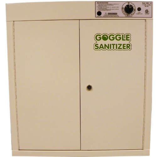 Eisco Steel Goggle Sanitizer Cabinet, 120 Vac, For 35 Pairs front-292657