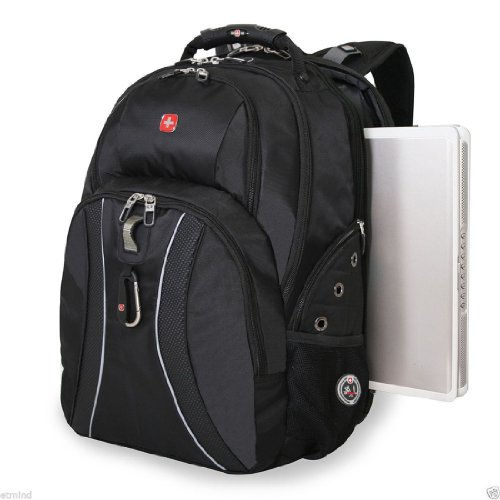 "17"" Laptops / Notebook Swissgear Scansmart Backpack - Green Ace - Black Color"
