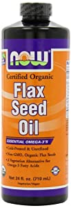 NOW Foods Flax Seed Oil, 24 Ounces