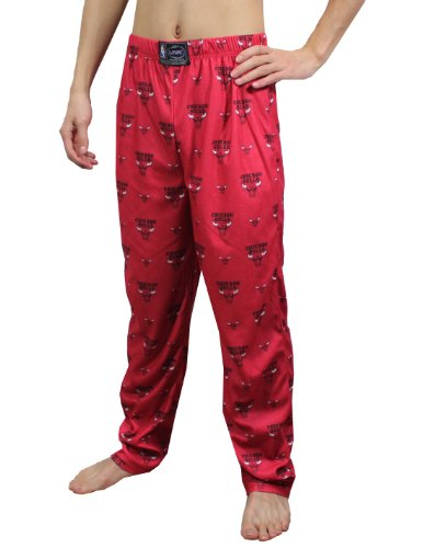 NBA Chicago Bulls Mens Polar Fleece Pajama / Lounge Pants M Red at Amazon.com