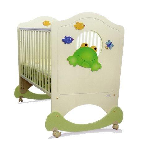 Best Offer Baby Wooden Rocking Cot Bed Crib Oblò Rana Azur ...
