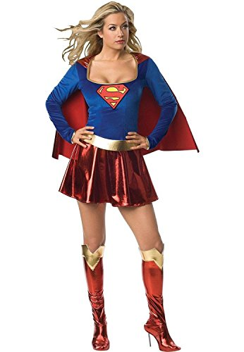 Aimerfeel Super Woman Fancy Dress Costume - Three Sizes from 6 to 16