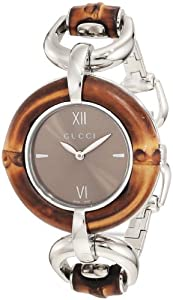 Gucci Women's YA132402 Bamboo Brown Sun-Brushed Dial Watch