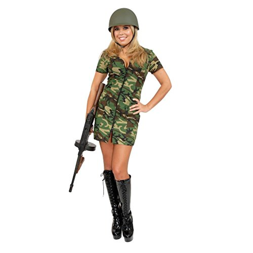 Sexy Adult Army Girl Costume (Size: Medium 8-10)