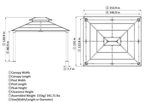 Best Deal 10 X 12 Chatham Steel Hardtop Gazebo Gazebo Canopy Lowes
