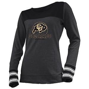 NCAA Colorado Buffaloes Ladies Striped Long Sleeve Tee by Ouray Sportswear