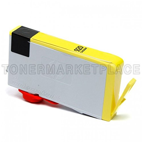 Inkuten © Remanufactured Replacement Ink Cartridge For Hewlett Packard Cd636An (Hp 920) Yellow - Shows Accurate Ink Levels